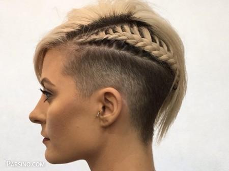 مو کوتاه فشن , مو کوتاه زنانه , مدل موی کوتاه بافته شده