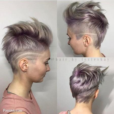 مدل مو کوتاه زنانه , مدل موی کوتاه , موی کوتاه دخترانه